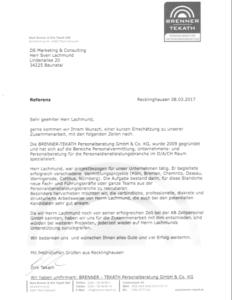 Referenz Brenner & Tekath GmbH & Co. KG Recklinghausen