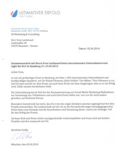 Referenz Ultimativer Erfolg Event GmbH München